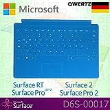 Microsoft Surface RT/Pro (2012)/2/Pro 2Touch Cover Deutsches QWERTZ Tastatur mit Non-Backlit Schlüssel–Cyan–OEM Box (Keine Einzelhandelsverpackung)