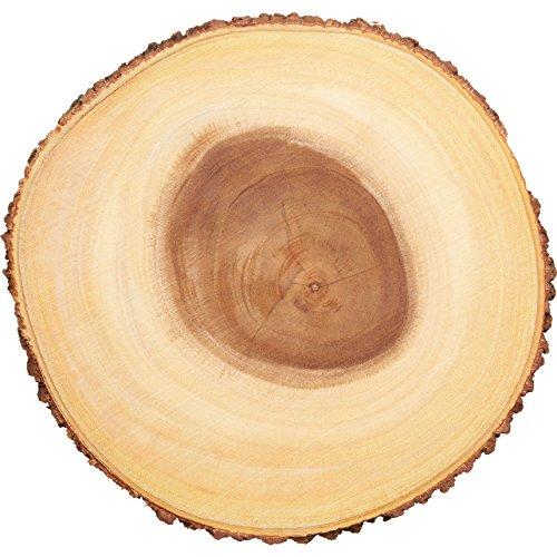 Kitchen Craft Artesà Natürliches Holz Käsebrett/Servierplatte mit Rindenrand, 30 cm (12 Zoll) Rund, Brown, 30 x 30 x 2.2 cm