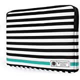 VanGoddy Luxe Sleeve Stylish Case Cover Bag For Apple MacBook Air/Pro / Retina 13 Inch/iPad Pro (Stripes With Green)