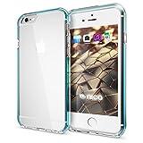 NALIA Handyhülle für iPhone 6 6S, Durchsichtiges Slim Silikon Case mit Transparenter Rückseite & Bumper, Crystal Schutz-Hülle Etui Dünn, Handy-Tasche Back-Cover für Apple iPhone-6, Farbe:Türkis
