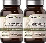 2 Black Cohosh 40 MGR. 90 CAPS. Natures Origin
