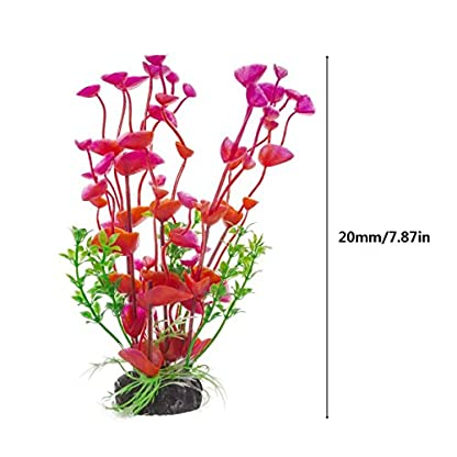 PANYTOW Aquarium Plastic Plants Fish Tank Imitation Sea Urchin Water Aquatic Grass Artificial Plants Decoration for… 5