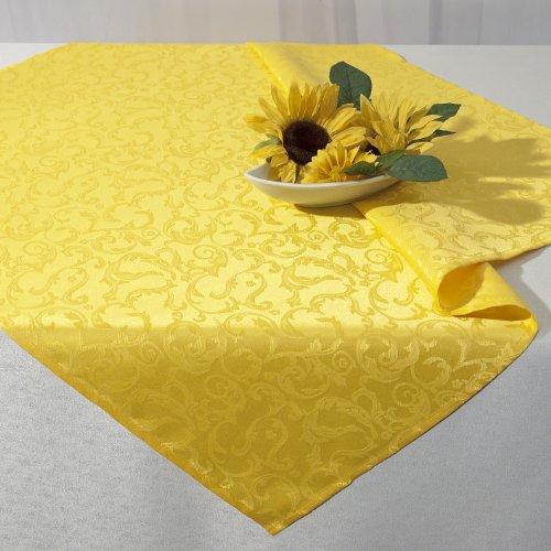 """Tovaglia effeto Lotus """"STARLIGHT"""" in luminoso giallo sole - Misure 85x85 - con protezione antimacchia - idrorepellente - La perfetta Tovaglia per interni e esterni"""