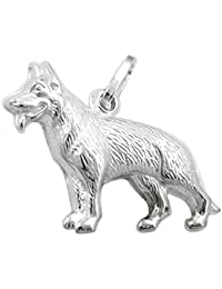 jewellery pendant, sheep-dog, silver 925 G90064