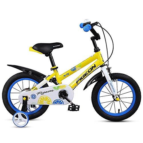 Children's bike Niños de la Bici, Muchacho 3-6 Carro de bebé de los Años, Bici del Niño de 14/16/18 Pulgadas, Bicicleta del Niño del bebé (Color : Amarillo, Tamaño : 18 Inch)