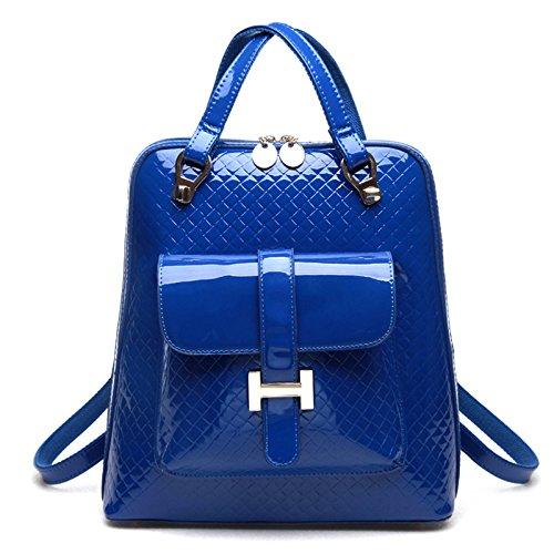 Mefly Student Tasche Tasche Rucksack Rucksack Fashion Retro Flugreisen PU blue