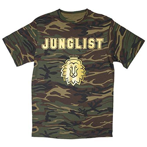 DPX-1Herren Junglist DNB Drum & Bass Camouflage Musik T Shirt (S-2X L) Gr. L, Tarnfarbe