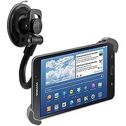 """kwmobile Support Tablette Voiture 7-10,5"""" - Support Universel pour Pare-Brise avec Fixation par Ventouse et Rotation 360° - 21,0-34,0 cm"""