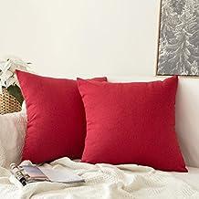 7c30410dcb8 excellent miulee fundas de cojines almohada caso de la cubierta del  decorativo lino duradero decoracin para with cojines para sofa rojo.