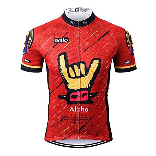 Thriller Rider Sports® Mens Aloha Outdoor Sports Mountain Bike Short Sleeve Cycling Jersey