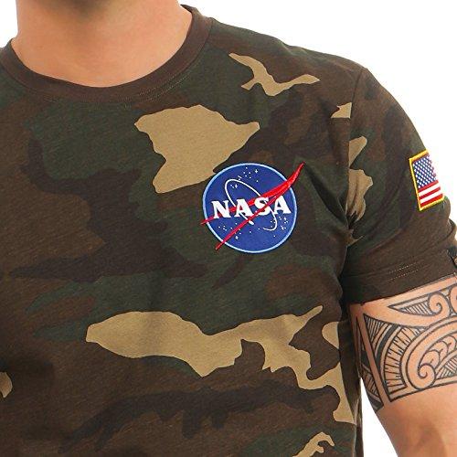 Alpha Industries Herren Oberteile/T-Shirt Space Shuttle wdl camo