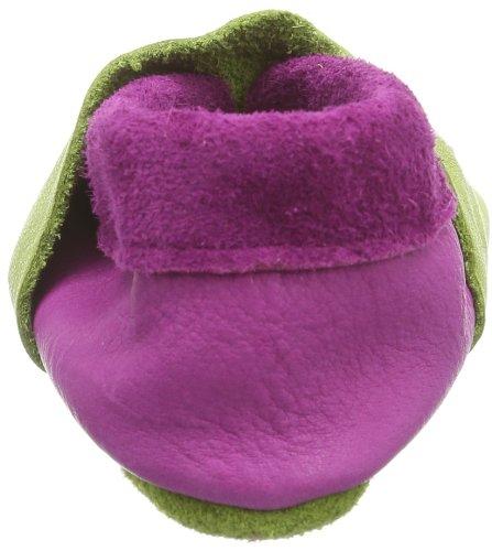 Pololo Eulalia Pistazie/pink, chaussons d'intérieur fille Vert - Grün (pistazie/pink 423)