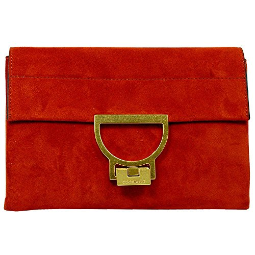 Coccinelle Clutch Arlettis Suede 1901 Coquelicot