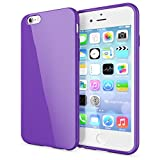 NALIA Custodia compatibile con iPhone 6S Plus 6 Plus, Cover Protezione Ultra-Slim Case Protettiva Morbido Cellulare in Silicone Gel, Gomma Jelly Telefono Bumper Sottile - Viola