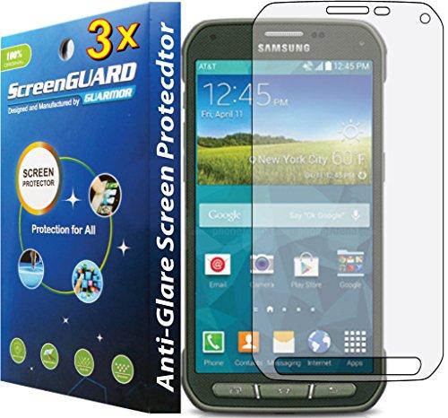 3x Anti Glare Matt LCD Displayschutzfolie Cover Guard Shield Film für Samsung Galaxy S5Active G870 (Für S5 Active Galaxy Skin)