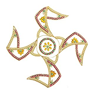 AMBA HANDICRAFT Rangoli / Wohnkultur / Diwali / Geschenk für Haus / Innenraum handgefertigte / Bodenaufkleber / Wandaufkleber / Wanddekoration / Bodendekoration / Neujahr Geschenk / Party RANGOLI 022
