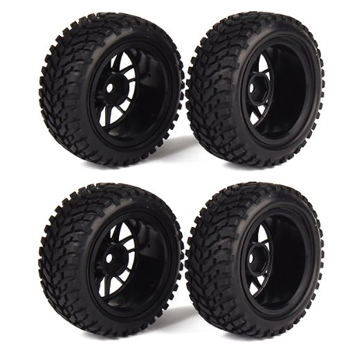 4pcs-14-spoke-wheel-rim-tires-tyre-for-rc-1-10-racing-off-road-car