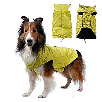 SUPEREX® Waterproof pet Dog Coat Jacket costume,Inner Fleece,Magic Stick Closure Outdoor Clothes Apparel Winter Warm for… 1