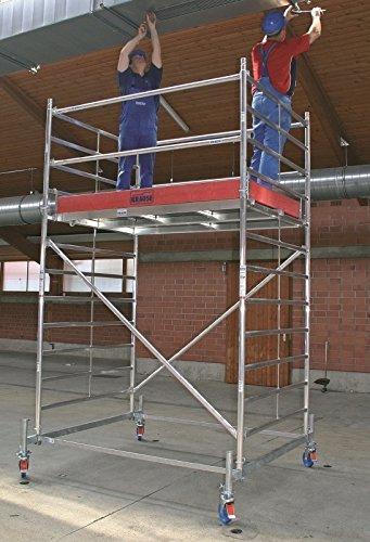 KRAUSE  lij218Gerüst für zwei Personen, 2000mm x 1500mm Plattform, 3.4M Länge