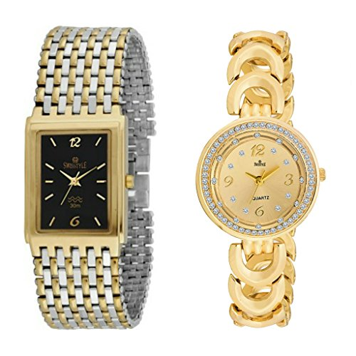 Swisstyle SS-1114B-1995G - 1 Flunky Analog Watch For Couple