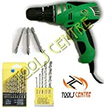 #2: TOOLS CENTRE POWERFUL ELECTRIC SCREWDRIVER CUM DRILL MACHINE COMBO WITH FREE SCREWDRIVER BITS & DRILL SET.