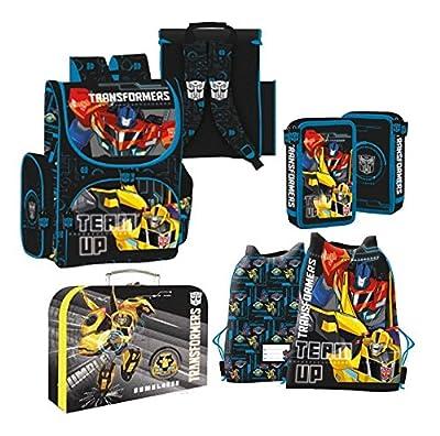 TRANSFORMERS Roboter 4 Teile SET TASCHE SCHULRANZEN SCHULRUCKSACK Rucksack + Sticker von Kids4shop