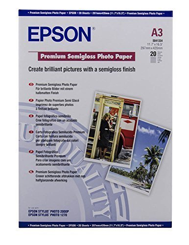 Epson Premium Semigloss Fotopapier S041334 / DIN A3 / 250 g/m² matt