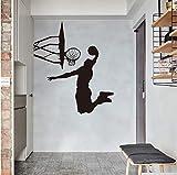zhimu Dunk Muster Aufkleber Wandaufkleber Kunst Wohnkultur Basketball Poster Kunst Jungen Wohnkultur Basketball Sport