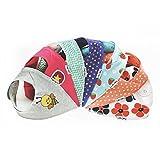 Lovjoy Bandana Geifer Baby Lässig Sommer Lätzchen (7er Pack) - Multicolor Super Absorbent & Soft für ultimativen Komfort mit Druckknöpfen – abwaschbar - Wasserdicht vlies Auskleidung für 0-3 Jahre - Netter Baby-Geschenk für Jungen und Mädchen