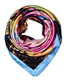 corciova Women's Neckerchief Large Square Satin Head Scarf for Long Hair