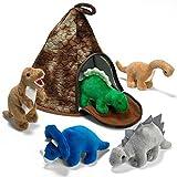 Prextex Casa Volcán de Dinosaurio con 5 Dinosaurios de Peluche - Gran...