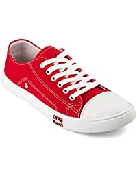 NYN Men's Lace-up Casual Shoes (Red)