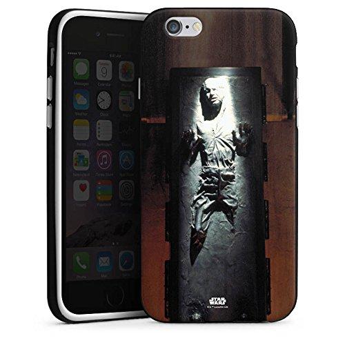Apple iPhone 8 Hülle Premium Case Cover Star Wars Merchandise Fanartikel Han Solo frozen Silikon Case schwarz / weiß