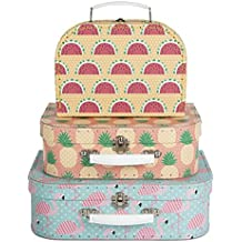 SET OF 3 flamenco rosado trumpeter maleta almacenaje