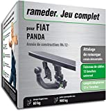 Rameder Attelage rotule démontable pour Fiat Panda + Faisceau 13 Broches...