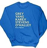 HippoWarehouse Grey Yang Karev Stevens OŽMalley Squadgoals jersey sudadera suéter derportiva unisex