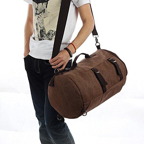 Grande capacità zaino / tela / esterno / borsa / uomini casuali sacchetto / borsa messenger-la mimetizzazione 1 Grande marrone 1