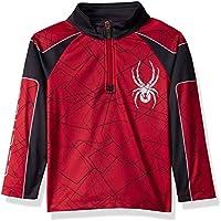 Spyder Mini Limitless Challenger Camiseta Térmica, Niños, Rojo/Negro, 7