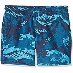 adidas Yb Parley SH ML Bañador, Niños, Azul (Indnob/Ciabri), 158 (12/13 Años)
