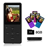 crillutar Media playerCrillutar Gemütlich 8GB MP3 / MP4-Player Musik  /Stimmaufnahme mit unabhängiger /Media Player  Sperrtaste, Inklusive einer 8GB Micro SD-Karte, und 1.8 Zoll Bildschirm,  Unterstützung von Photo Viewer und E-Book(Schwarz)
