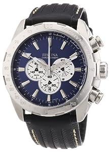 Festina Sport Chronograph F16489/8 - Reloj cronógrafo de cuarzo para hombre, correa de cuero color negro (cronómetro, agujas luminiscentes) de Festina