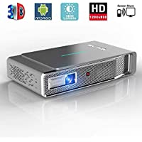 Video Projector, 3D DLP Link Android Smart Projector, 3800 Lumens, Support 1080P Full HD, Wireless Screen Share for iPhone iPad Android - Projeksiyon Cihazı