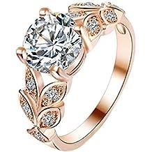 Da.Wa Anillo de Plata de la Manera anillo de Diamantes de Cristal Joyas de la Boda Señoras Para Mujer Anillos de Regalo de oro Rosa