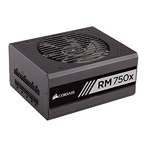 Corsair CP-9020092-UK RM750x 750 W 80 Plus Gold Certified Modular 135 mm Thermally Controlled Fan Power Supply Unit -