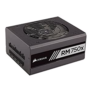 Corsair RM750x 750W ATX Black - power supply units (750 W, 100 - 240 V, 825 W, 47 - 63 Hz, 5 - 10, 150 W)