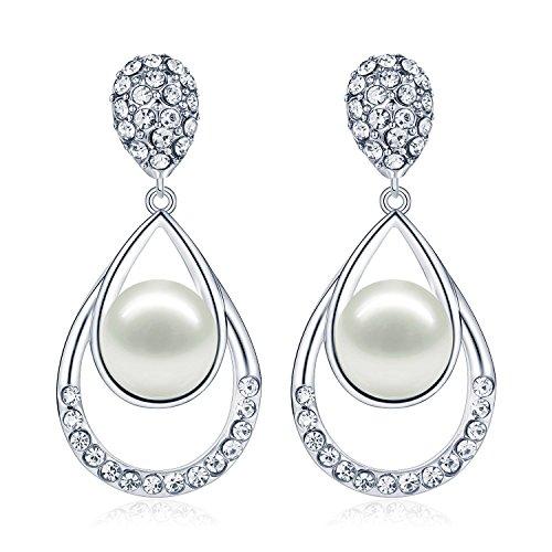 tonver weißgold-vergoldet Perlen-Ohrringe im Set Weihnachtsgeschenk, Schmuck für Frauen & Mädchen (Halloween Argos)