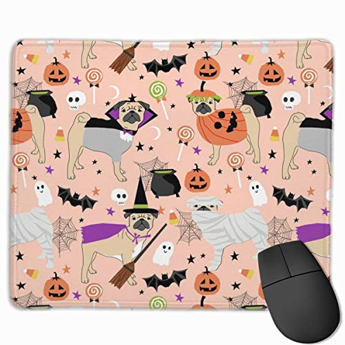 Pug Halloween Costume - Cute Dogs In Costumes - Peach Mousepad 18x22 cm