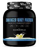 ENHANCED ISO WHEY 100% PROTEIN - ISOLAT + Enzym | Perfekt Als Proteinshake Für Eine Zunahme An Muskelmasse beim Fitness Kraftsport Bodybuilding | 100% Made In Germany | Sehr Gut Löslich | Ultra lecker | Geschmack Delicious Vanilla 1kg