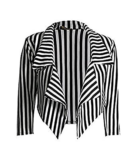 zara-fashion-women-3-4-sleeve-striped-waterfall-crop-blazer-jacket-top-sm-black-white