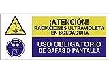 Cofan CAO30PL507210 ¡Atención Radiaciones Ultravioleta En Soldadura/Uso Obligatorio De Gafas O Pantalla